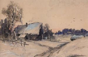 Aleksey Savrasov - The village in winter