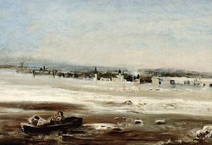 Aleksey Savrasov - Drifting ice on the Volga