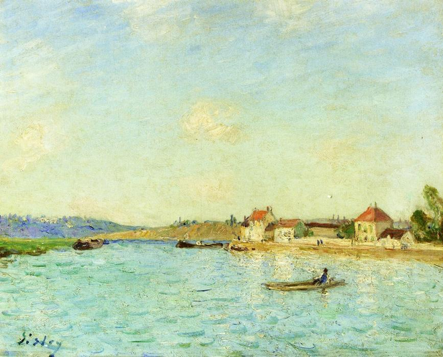 famous painting Saint Mammes of Alfred Sisley
