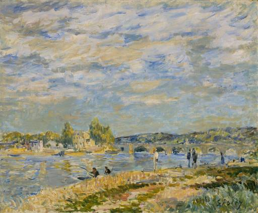 famous painting Bridge at Serves of Alfred Sisley