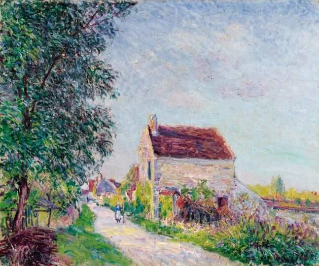 famous painting The village of Sablons of Alfred Sisley