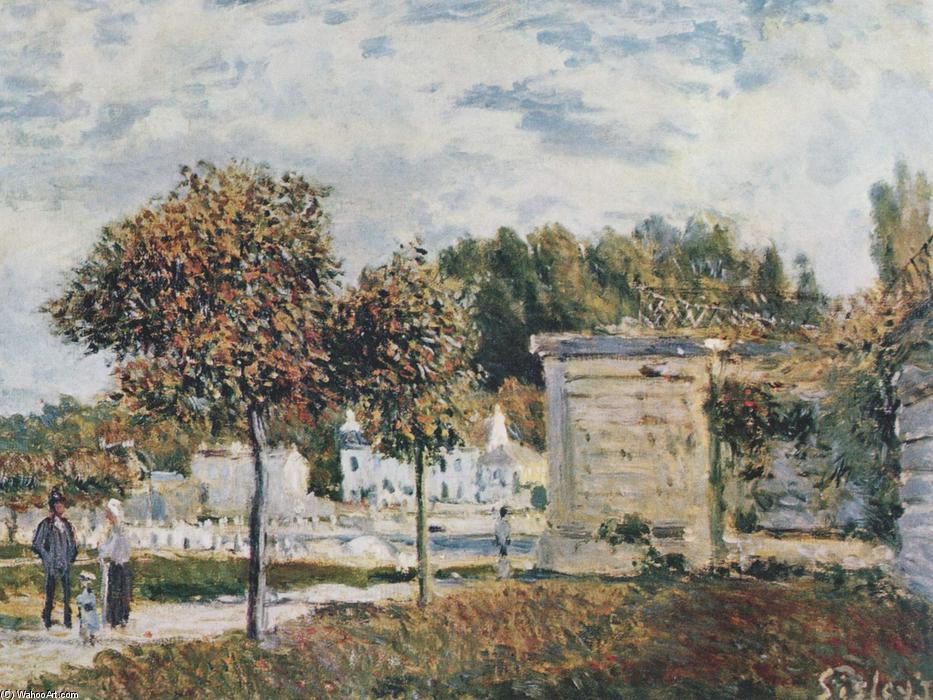 famous painting Bassin de Marly of Alfred Sisley
