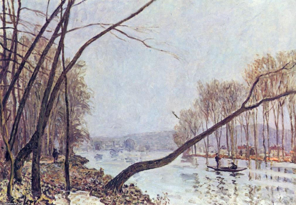 famous painting Bank, in the autumn of Alfred Sisley