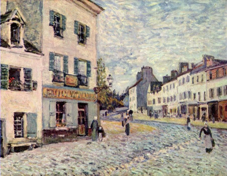 famous painting Street in Marly of Alfred Sisley