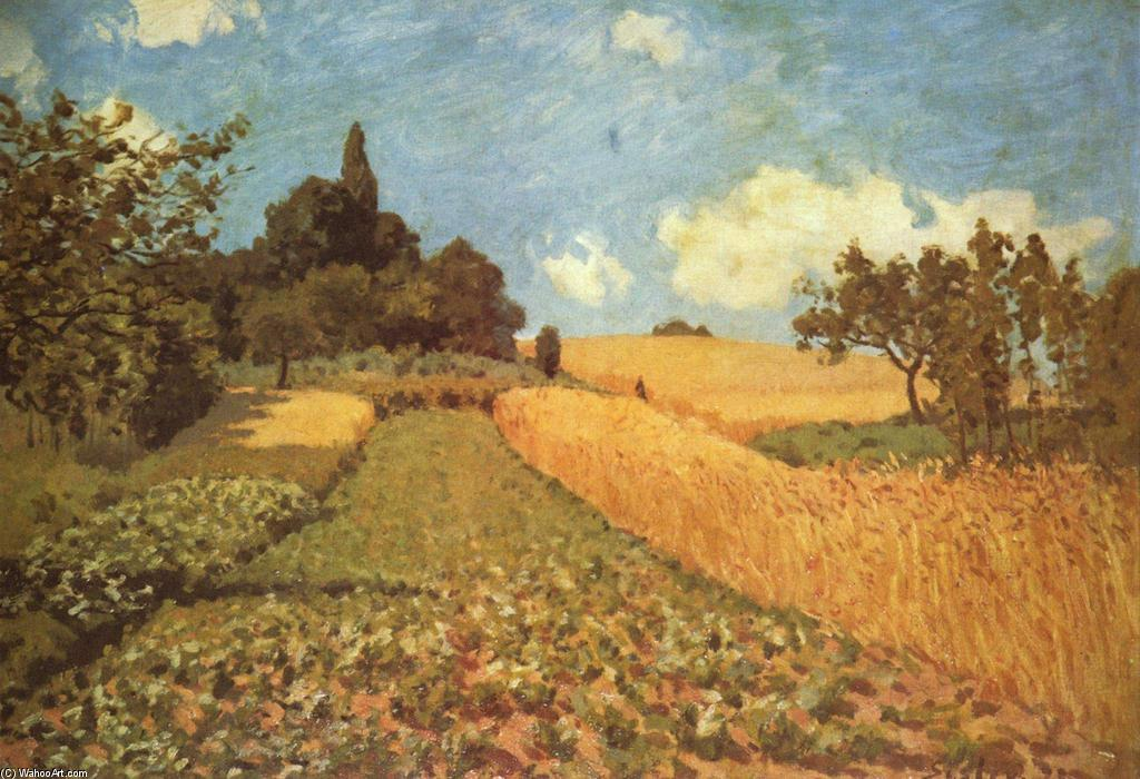 famous painting Cornfield of Alfred Sisley