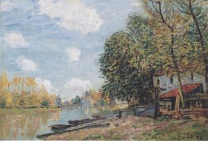 Alfred Sisley - The banks of the Loing Moret