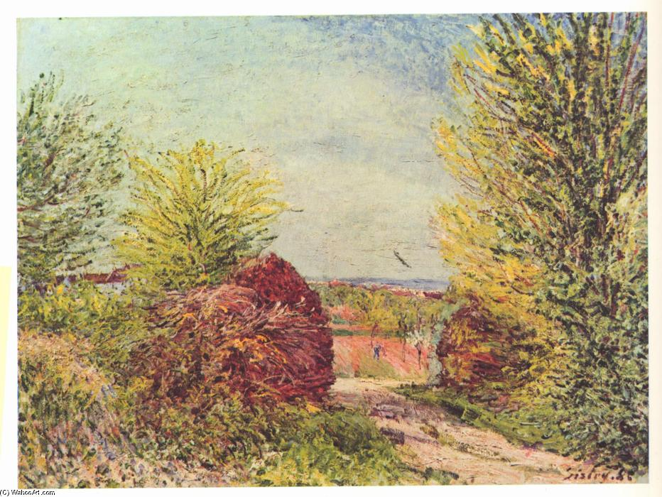 famous painting Away in the spring Veneux Nadon of Alfred Sisley