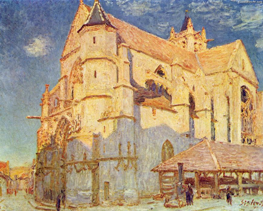 famous painting Church of Moret of Alfred Sisley