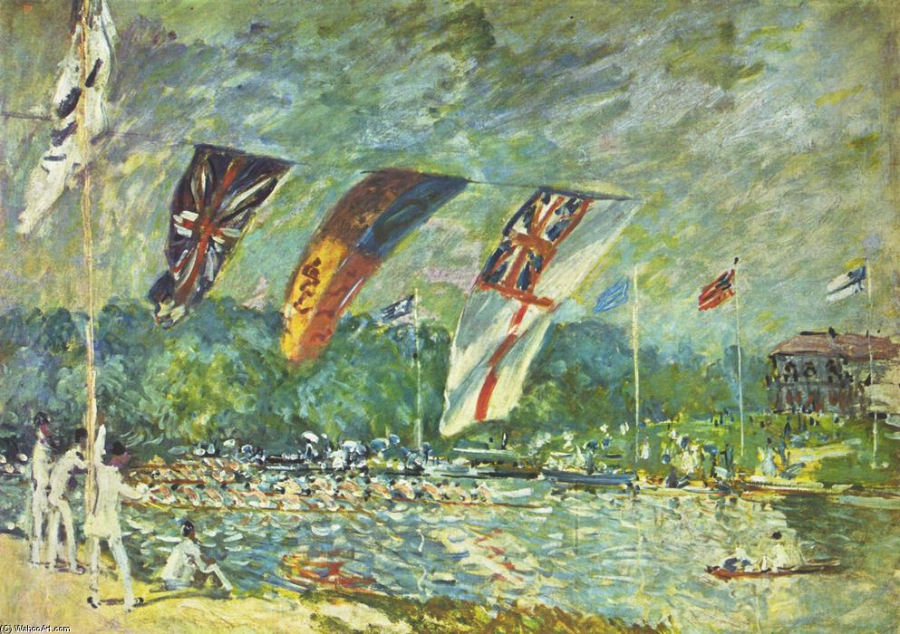 famous painting The regattas Moseley of Alfred Sisley