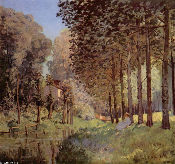 famous painting The rest beside d`un Creek of Alfred Sisley