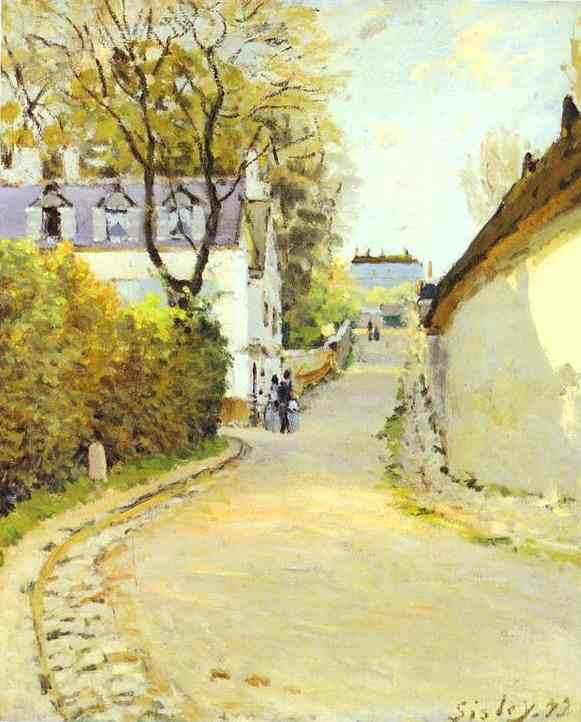 famous painting Street in Ville d Avray of Alfred Sisley