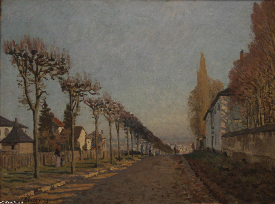famous painting The lane of the Machine of Alfred Sisley