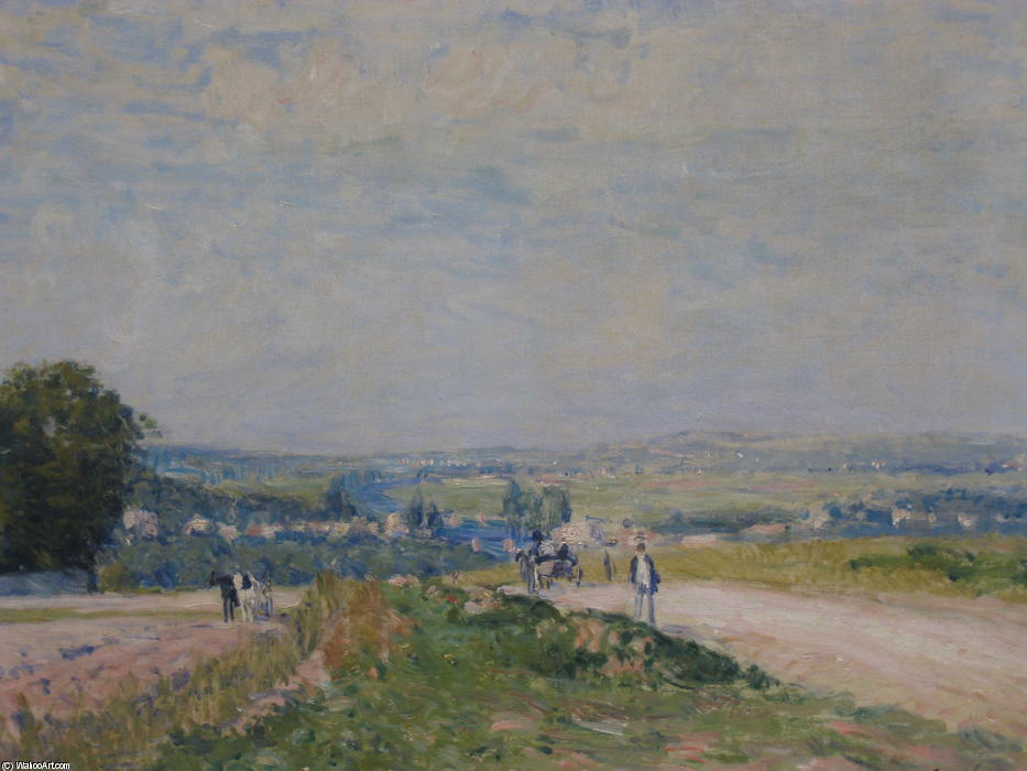 famous painting The Road to Louveciennes Montbuisson of Alfred Sisley