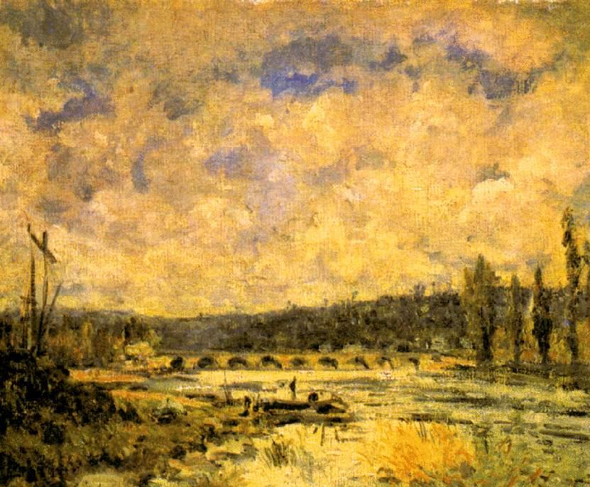 famous painting A ponte of Alfred Sisley