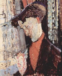 Amedeo Modigliani - Portrait of Frank Haviland Burty