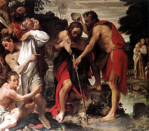 Annibale Carracci - Baptism of Christ