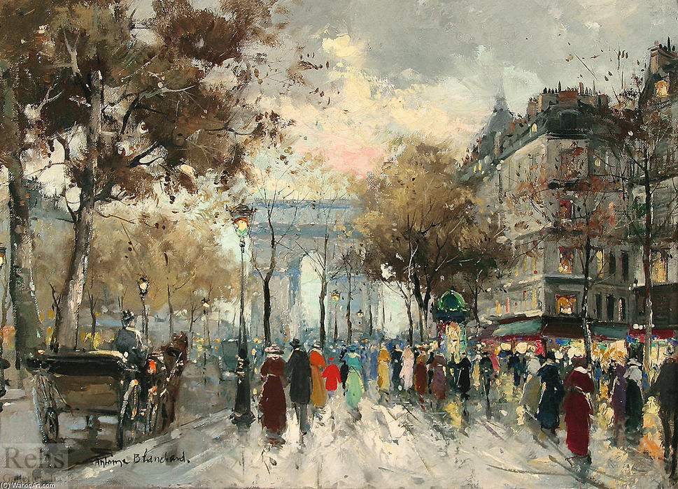 famous painting Champs Elysees of Antoine Blanchard (Marcel Masson)