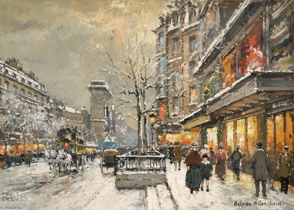 famous painting Grands Boulevards of Antoine Blanchard (Marcel Masson)