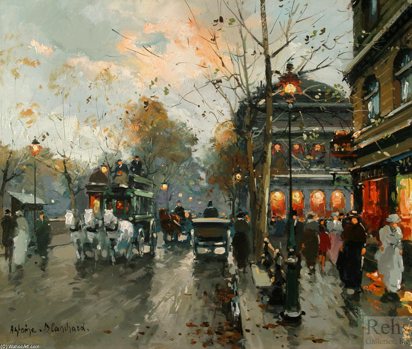 famous painting Le Chatelet of Antoine Blanchard (Marcel Masson)