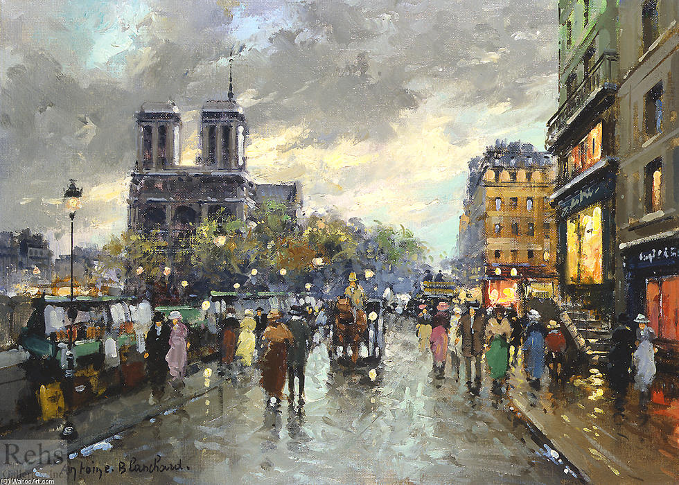 famous painting Notre Dame of Antoine Blanchard (Marcel Masson)