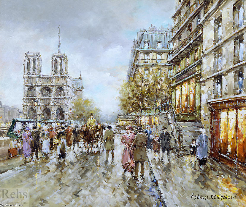 famous painting Paris of Antoine Blanchard (Marcel Masson)