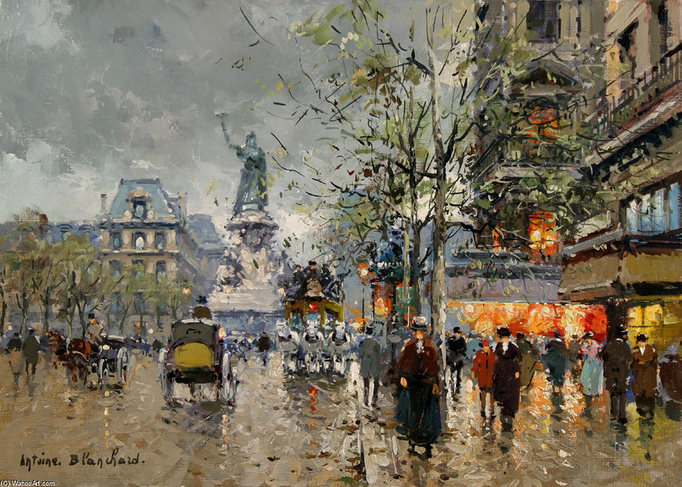 famous painting Place de la Republic of Antoine Blanchard (Marcel Masson)