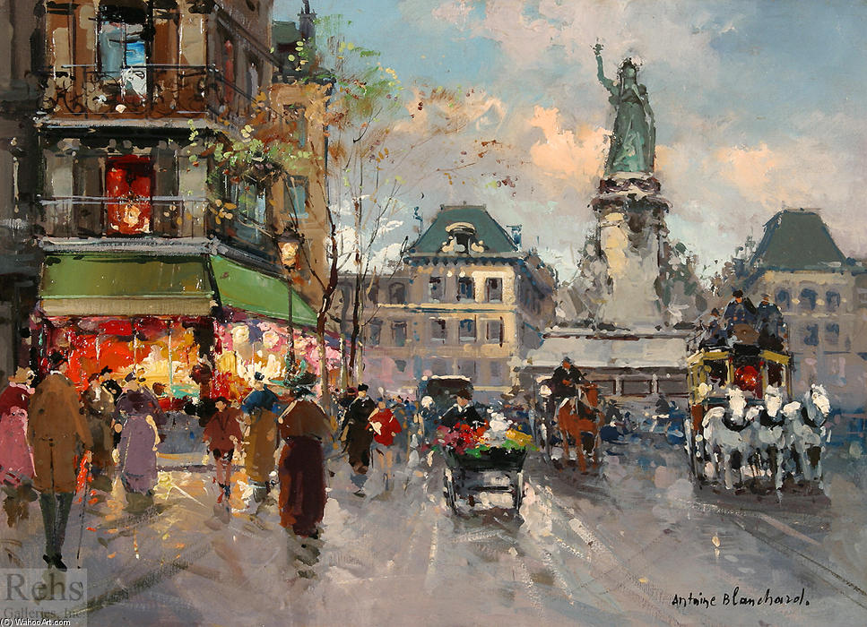 famous painting Place de la Republic (9) of Antoine Blanchard (Marcel Masson)