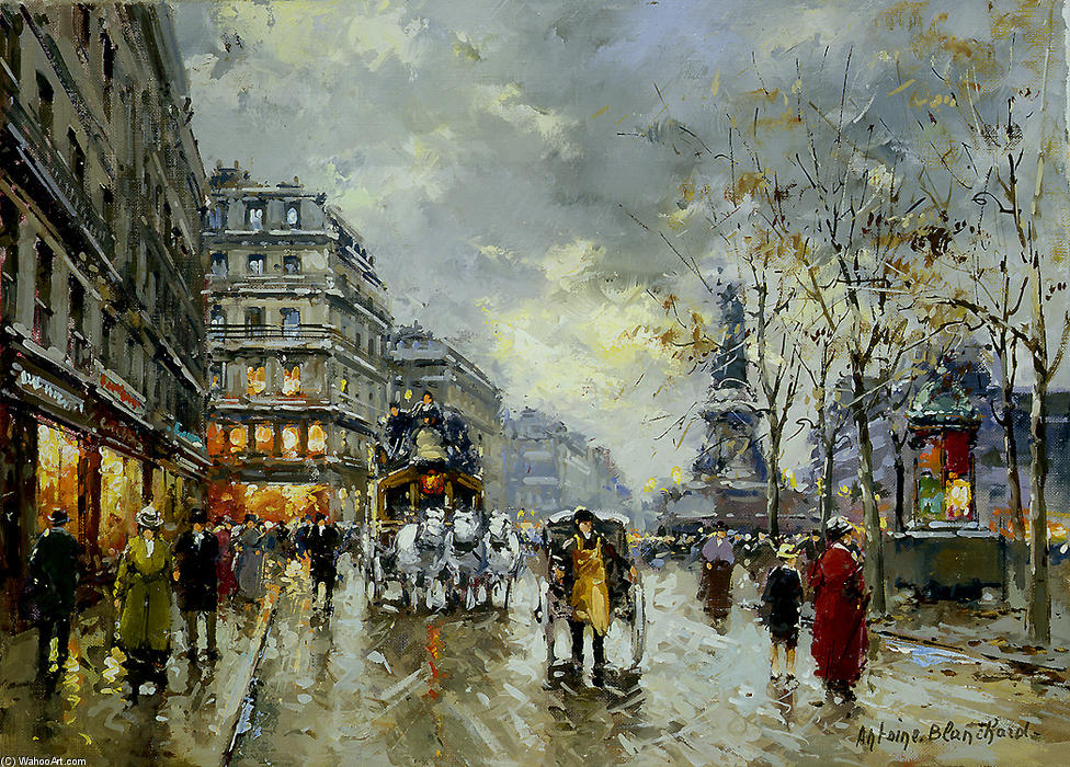 famous painting Place de la Republique of Antoine Blanchard (Marcel Masson)