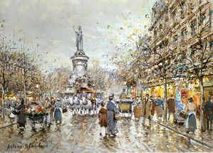 Antoine Blanchard (Marcel Masson) - Place de la Republique