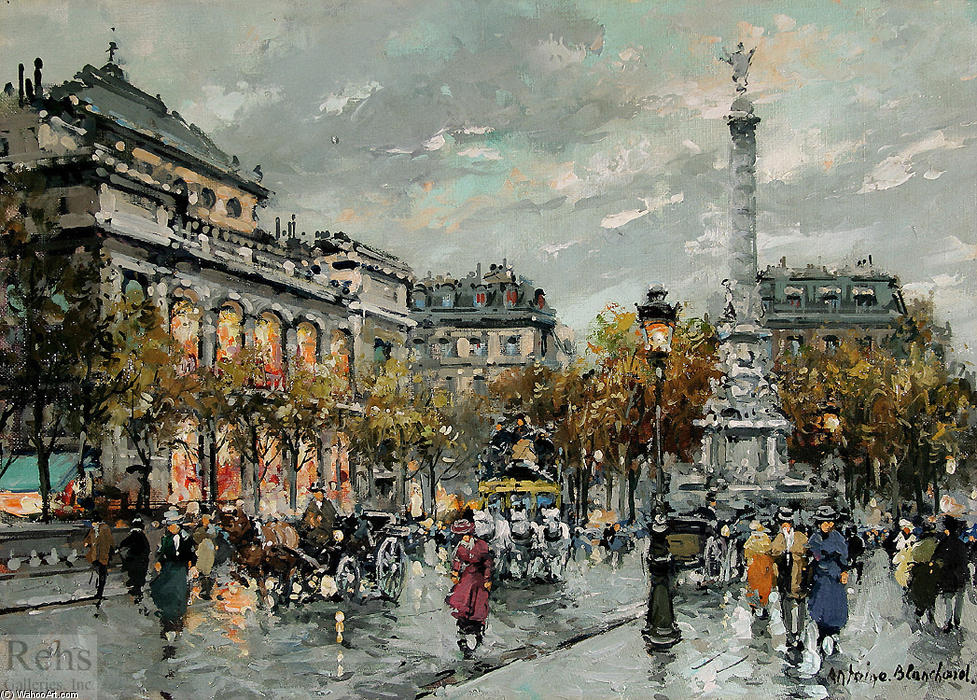 famous painting Place du Chatelet of Antoine Blanchard (Marcel Masson)