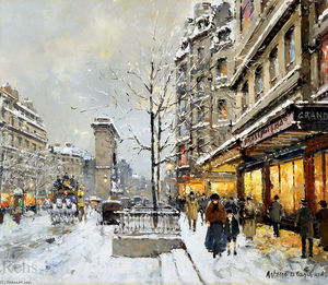 Antoine Blanchard (Marcel Masson) - Porte St. Denis, Winter