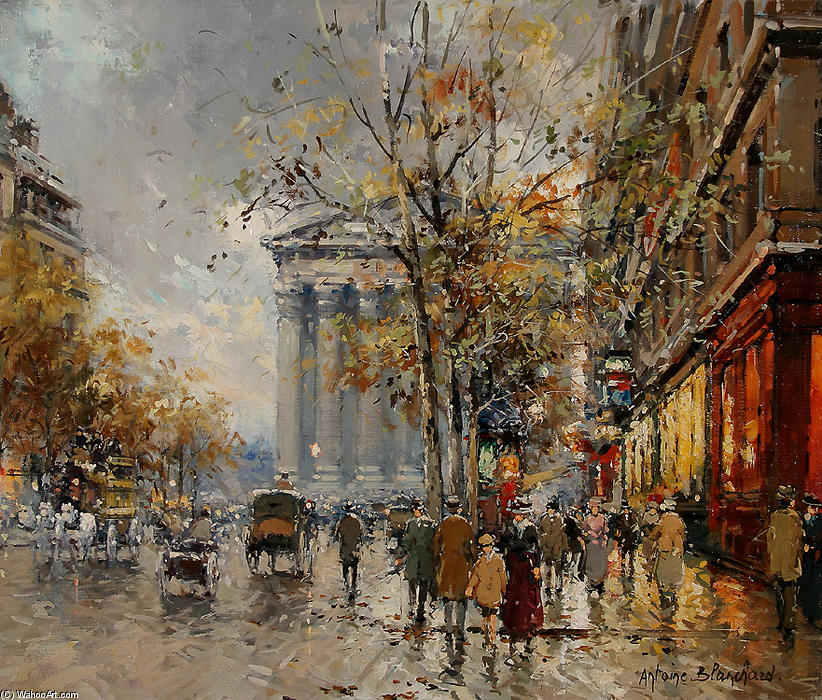 famous painting Rue Royal Madeleine of Antoine Blanchard (Marcel Masson)