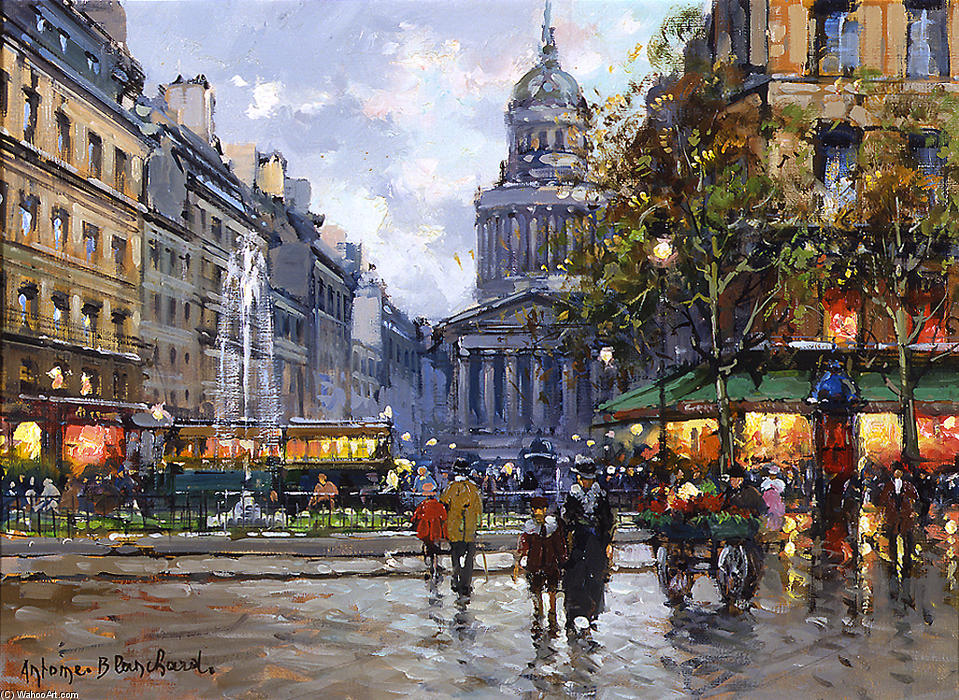 famous painting The Pantheon of Antoine Blanchard (Marcel Masson)