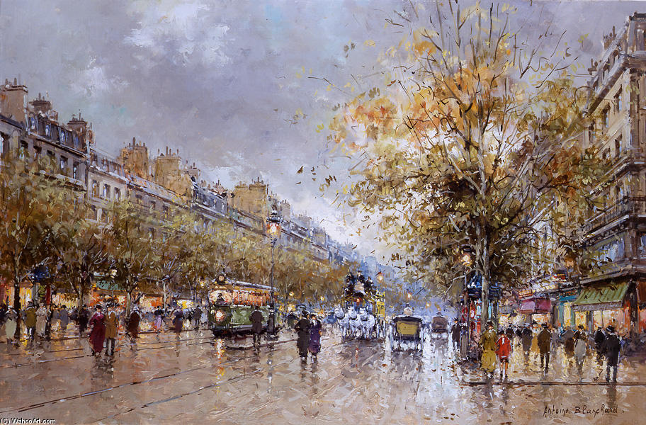 famous painting Theatre des Varietes Large of Antoine Blanchard (Marcel Masson)