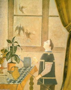 Balthus (Balthasar Klossowski) - The Child with Pigeons