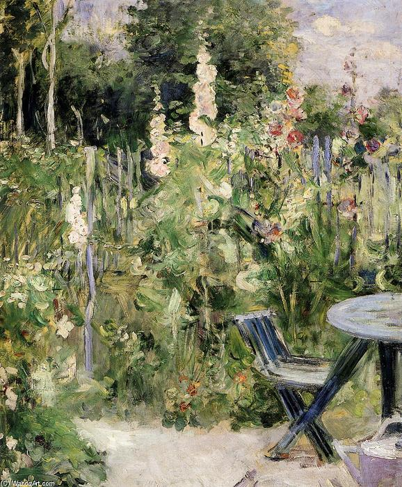 famous painting Roses Tremieres (Hollyhocks) of Berthe Morisot