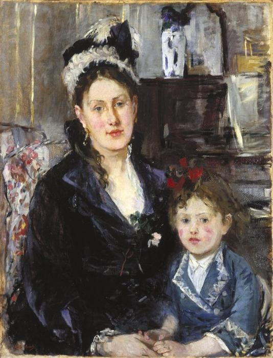famous painting Mme Boursier and Her Daughter of Berthe Morisot