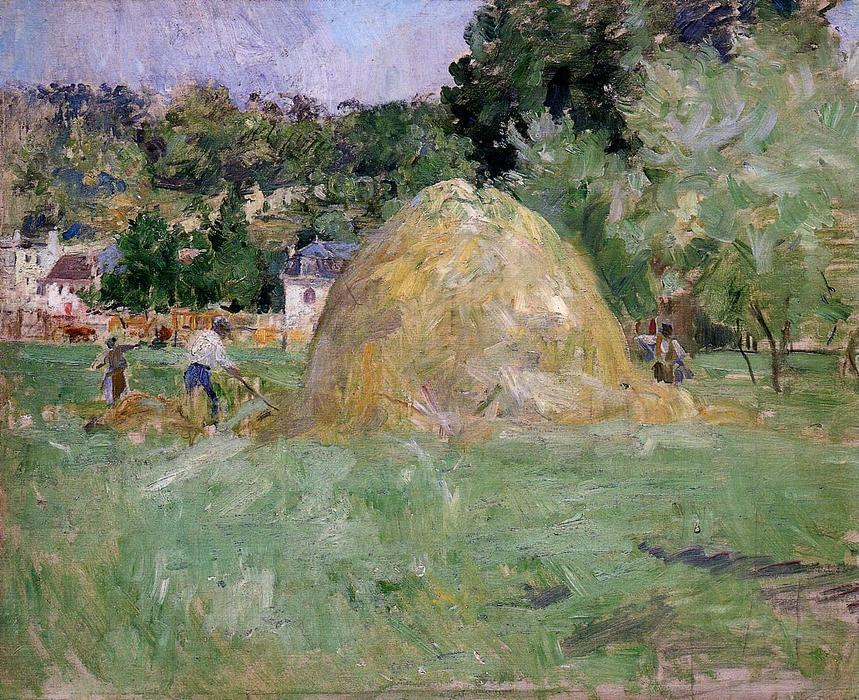 famous painting Haystacks at Bougival of Berthe Morisot
