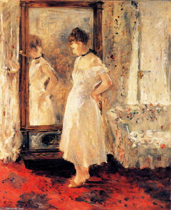 famous painting The Cheval Glass of Berthe Morisot