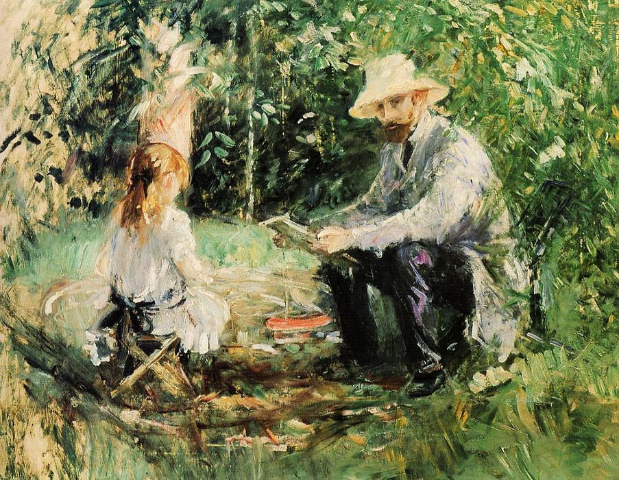 famous painting Julie and Eugene Manet of Berthe Morisot