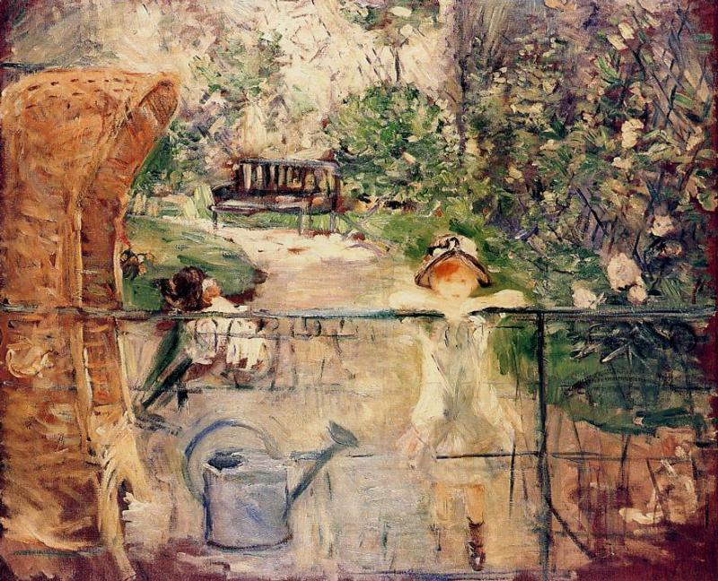 famous painting Little Girls in the Garden of Berthe Morisot