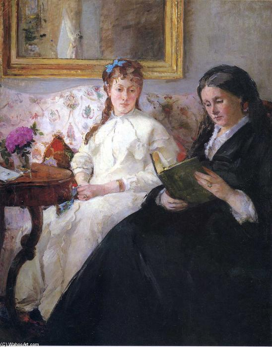 famous painting Portrait of the Artist's Mother and Sister of Berthe Morisot