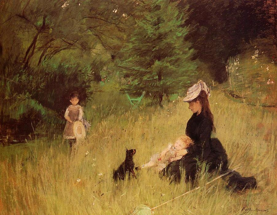 famous painting In a Park of Berthe Morisot