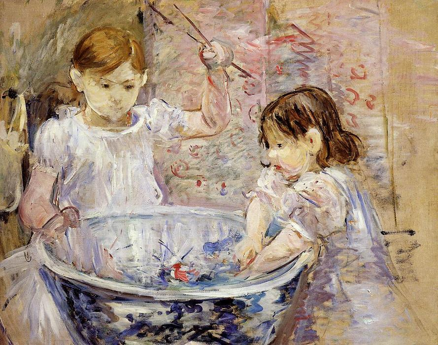 famous painting Children at the Basin of Berthe Morisot