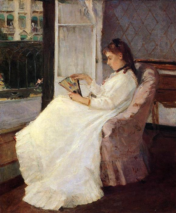 famous painting The Artist's Sister at a Window of Berthe Morisot