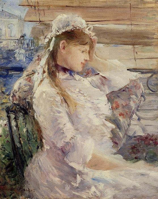 famous painting Profile of a seated young woman of Berthe Morisot