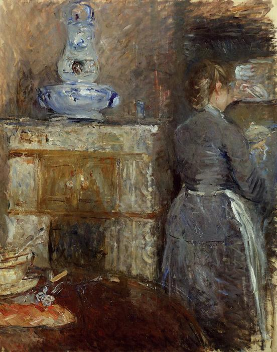 famous painting The Rouart's Dining Room of Berthe Morisot