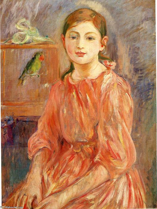 famous painting The Artist's Daughter with a Parakeet of Berthe Morisot