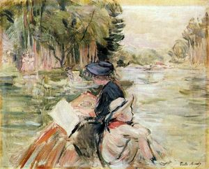 Berthe Morisot - Woman with a Child in a Boat