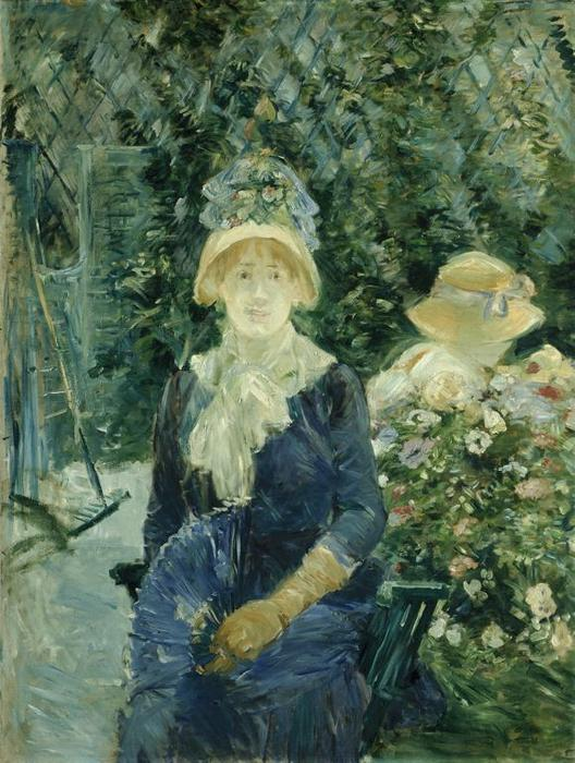 famous painting Woman in a Garden of Berthe Morisot